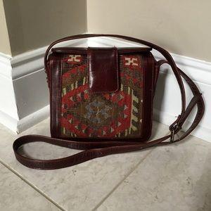 KilimArt TURKEY vintage Tapestry leather crossbody